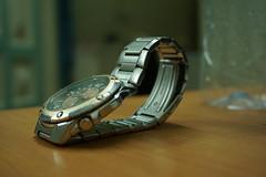 Casio Wrist Watch (Mubashir Younus) Tags: camera new light shadow black rooftop night dark painting photography hole bokeh sony watch madina gift portal wrist alpha 2014 mirrorless a6000