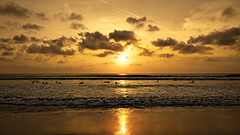 Sunset at Kuta Beach, Bali (ClickSnapShot) Tags: sunset bali reflection beach surfer kuta kutabeach ilobsterit