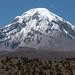 O imponente vulcão Sajama com 6.542m