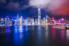 Hong Kong (carolinemphotography) Tags: city longexposure nightphotography reflection beauty lights hongkongbay