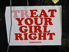Treat/Eat, London, UK (Robby Virus) Tags: city uk greatbritain england london english girl sticker unitedkingdom britain right eat dime british treat slap piece dimepiece