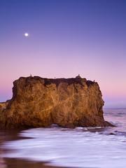 El Matador State Beach (After Sunset) (Eunice Eunjin Oh) Tags: ca sunset beach horizon malibu rockformation seafog coastalline elmatadorstatebeach oceanfog pchhwy1