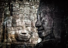 Khmer Smile (Trent's Pics) Tags: temple ruins cambodia khmer buddhist monastery spiritual siemreap angkor thebayon hindu scultpure basrelief bayon angkorthom khmersmile