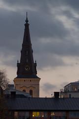 Church tower (Ryuu Tora) Tags: autumn church canon evening cathedral sweden churchtower karlstad sverige hst kyrka domkyrka vrmland kvll 60d kyrktorn karlstadsdomkyrka efs18135mmis ryuutora karlstadscathedral