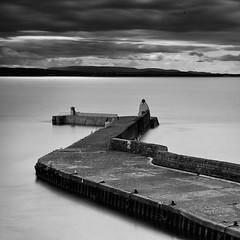 Harbour Wall at Burghead (Geoff France) Tags: port landscape scotland boat highlands fishing jetty trawler moray fishingvillage morayfirth scottishlandscape moraycoast
