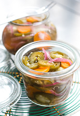 Pickled Jalapeos (David Lebovitz) Tags: chile hot recipe pepper chili mexican carrot pickles spicy jalapeno
