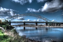 Runcorn Bridge, River Mersey (joanjbberry) Tags: bridge river cheshire pentax runcorn manchestershipcanal rivermersey runcornbridge k30 runcorndocks pentaxk30