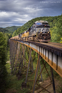 Norfolk Southern on the Trace Fork Viaduct