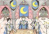 War Council (alteanprince) Tags: moon chart mountains colour castle pencil ink town hall war king drawing prince fantasy armor half council crown crayon timeless generals