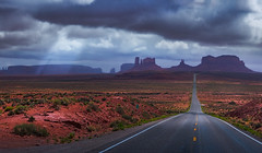 Road To Monument Valley (Jerry T Patterson) Tags: longexposure arizona timelapse ut arches moab wildflowers navajo archesnationalpark wolves petroglyphs theview delicatearch parkavenue wolfe milkyway doublearch turretarch themittens agathla thewindows professorvalley milemarker13