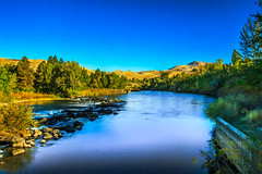 The Peaceful and Beautiful Payette River (http://fineartamerica.com/profiles/robert-bales.ht) Tags: blue trees reflection fall water beautiful leaves clouds wow reflections river season spectacular outdoors scenery colorful whitewater awesome scenic surreal peaceful bank panoramic rapids idaho boise foliage sensational projects inspirational spiritual sublime magical emmett magnificent inspiring haybales payetteriver canonshooter treasurevalley forupload gemcounty scenicbiway silkwater riverphotography robertbales