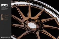 f521-polished-liquid-bronze (AG Wheels) Tags: bronze painting paint painted wheels step finish lip custom liquid function avant garde forged polished finishing avantgarde bespoke directional rotational f521 agwheels agfunction