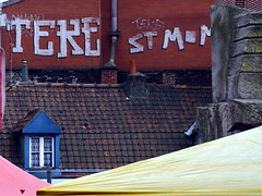 (Jean-Luc Léopoldi) Tags: graffiti toit fenêtre cheminées tuiles chienassis