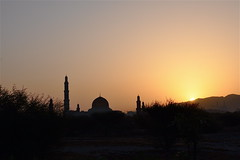 Muscat Greets a New Day (The Spirit of the World) Tags: light sun sunrise dawn islam religion middleeast oman muscat placeofworship sultanqaboos arabianpeninsula muslimreligion rememberthatmomentlevel1 rememberthatmomentlevel2 thegrandmosqueofmuscat