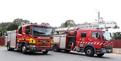 Not often seen together (adelaidefire) Tags: rescue fire mercedes benz south australian service sa fraser metropolitan scania mfs samfs skyjet liquip