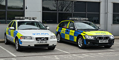 Two Generations of Traffic cars (S11 AUN) Tags: car volvo estate traffic south yorkshire police bmw vehicle t5 roads emergency s60 unit 999 3series rpu policing syp 330d anpr yr63upb yj59lge