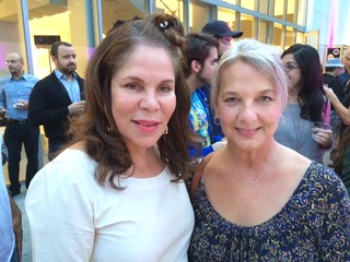 Artists Rosario Bond with Alette Simmons-Jimenez at the de la Cruz collection reception