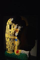 Klimt Kiss (CoasterMadMatt) Tags: pictures old uk greatbritain autumn england people sculpture man brick london tower art english painting person photography model october kiss gallery lego photos unitedkingdom britain united bricks great paintings models kingdom klimt exhibition human photographs brewery lane gb borough british bricklane sculptures truman artworks artexhibition oldtrumanbrewery hamlets 2014 towerhamlets londonboroughoftowerhamlets nathansawaya theartofthebrick legoexhibition klimtkiss madefromlego artofthebrick inlego october2014 bricksandart