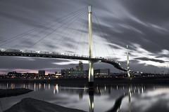 Gray Omaha (tdweeksomaha) Tags: night sky skyline omaha nebraska missouri river midwest long exposure bridge gray
