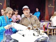 2014-10-11  Paris - Café Mabillon -Rue de Buci (P.K. - Paris) Tags: street people paris café french october terrace outdoor pavement candid drinking terrasse sidewalk openair octobre 2014 terrazza