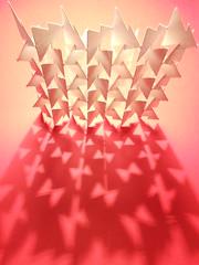 paravent /champ lumineux (kiridarchi) Tags: origami lumiere kirigami popup moucharabieh dcoupe origamicarchitecture claustra architectonique kiriorigami kiridarchi
