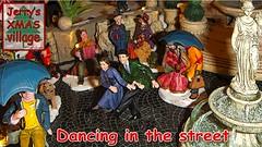 dancing in the street (jerry_springberg) Tags: christmas xmas natal weihnachten navidad miniature village decoration noel christmasdecoration jul natale christmasvillage  nadal kerstmis jl karcsony nadolig joulu   xmasvillage  kerstdorp kersfees santons gwiazdka villagedenoel kristnasko  sarcalogos x jerryspringberg weihnachtsdorf decorationdenoel chrschtdag  krismasi jerryschristmas villadenavidad