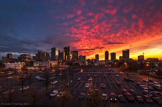 Sunset in Columbus, Ohio