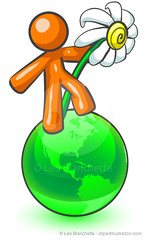 Orange Man Daisy on Earth (clipartillustration) Tags: world life new orange white plant man flower cute green nature ecology yellow illustration standing garden botanical petals globe shiny graphic bright earth vibrant live character conservation environmental save growth glossy clipart planet daisy globalization environment growing concept care metaphor botany worldmap simple protection environmentalism hold element symbolic protect metaphoric ecologist symbolize