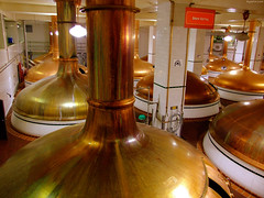 "Dozens of Massive brass brew kettles at Coors • <a style=""font-size:0.8em;"" href=""http://www.flickr.com/photos/34843984@N07/15545960002/"" target=""_blank"">View on Flickr</a>"