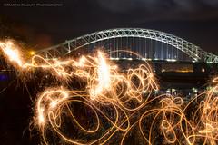 Halton Fireworks 2014 (ThePhotoMart) Tags: longexposure lightpainting canon fireworks sparklers le sparkler mersey bonfirenight runcorn widnes halton rivermersey runcornbridge silverjubileebridge haltonboroughcouncil