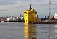 Yellow Reflections (WORLD DIAMOND) (mootzie) Tags: world sea reflection yellow giant ship harbour calm diamond aberdeen