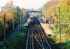 Kiev 4 + Jupiter-11 - Train Station Lesná 4 (Kojotisko) Tags: brno cc creativecommons vintagecamera czechrepublic kiev4 superiaxtra400 jupiter11 jupiter111354
