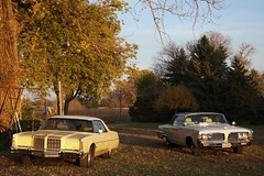 1978 Chrysler New Yorker & 1964 Imperial Crown Coupe (Crown Star Images) Tags: mopar 1978 chrysler new yorker brougham yellow 4door hardtop luxury 1964 imperial crown coupe white 2door 1964chryslerimperial 64 coop chryslercorporation crowncoupe crowncoop