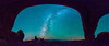 Midnight inside of North Window Arch (derliebewolf) Tags: panorama usa stars utah flickr tech natur galaxy moab archesnp milkyway d600 turretarch northwindowarch archasnationalpark