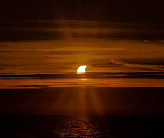 Partial Eclipse from Bayfield (Gary Lloyd-Rees) Tags: sunset eclipse lakehuron partialsolareclipse