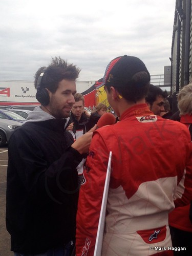 Champion George Russell interviewed after the last round of the 2014 BRDC F4 Championship