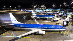 "Line up of KLM 737's during the evening rush hour • <a style=""font-size:0.8em;"" href=""http://www.flickr.com/photos/125767964@N08/15635970152/"" target=""_blank"">View on Flickr</a>"