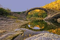 Ponte medioevale di Borghetto d'Arroscia (danilodld) Tags: bridge italy liguria h2o acqua autunno riflessi hdr imperia torrente cdp borghettodarroscia 2014copyrightdanilodelorenzisdld©serialnumber624340