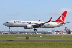 TC-JHK Turkish Airlines Boeing 737-8F2(WL) (carlowspotter) Tags: ireland dublin airplane aviation boeing turkish airliner 737 dublinairport 737800 planespotter turkishairlines 7378 avgeek eidw 7378f2wl tcjhk