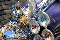 Lambretta (Benn Gunn Baker) Tags: docks canon bristol lights italian 60s colours baker harbour floating scooter lambretta motorbike british moped benn mods gunn arnolfini 550d t2i