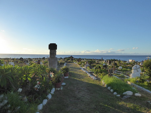 Cemetery at Hanga Roa on Easter Island