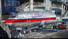 "BFI.2009 # US - B732 N213US ""Museum"" awp (CHRISTELER / AeroWorldpictures Team) Tags: usair boeing 737201 cn 20213 160 reg n213us preserved bfi the museum flight history aircraft 18apr1969 production site first field wa usa delivered piedmontairlines pi pai n744n tsfd us b737 b732 usairways display b737200 planes aircrafts avion airplanes kbfi washington state 1969 2009 nikon d80 lenses nikkor 18135 raw lightroom lr5 awp"