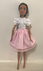 Barbie Ipink under skirt and white top. (nesi b) Tags: barbie endlass hair kingdom 17 requiemart pattern