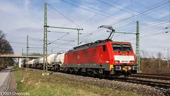 DB 189 043 on EZ 45717 at Ratingen Lintorf (37001 overseas) Tags: db dbschenker deutschebahn dbcargo 189043 ez45717 ez 45717 kijfhoek gremberg köln ratingen ratingenlintorf gatx zas zagns 331219 231011 vtg