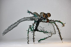 Diptera (Vortex67) Tags: art metal handmade toy wire sculpture recycled robot craft fly mouche insect insecte