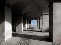proposta di ristrutturazione (fotomie2009) Tags: priamar fortezza galleria archway arches archi savona liguria italia italy centro storico architettura architecture surrealism surrealismo surreal surrealist