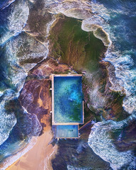 The Weekend Feeling (Jay Daley) Tags: aerial drone dji sony a7rll mona vale pool sydney northern beaches australia