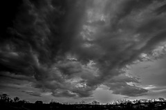 The Storm Arrived (Klaus Ficker --Landscape and Nature Photographer--) Tags: storm sturm badstorm weather weatherinkentucky thunderstorm lighting lightningstrikes clouds wolken gewitter blitz donner usa kentucky kentuckyphotography klausficker canon eos5dmarkii bw hdr