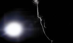 Jedi (danielledufour430) Tags: portrait man dark lighting flash starwars jedi sonya6000 profile silhouette eye reflection blackandwhite face