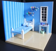 The Toy Collector's Bedroom ({YVD}) Tags: lego 112 scale room